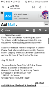 a pg 1 of email to poloni levasseur screenshot