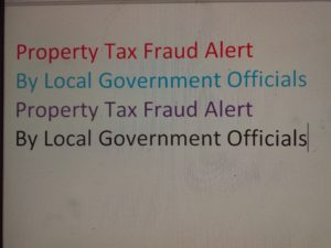 property tax fraud alert
